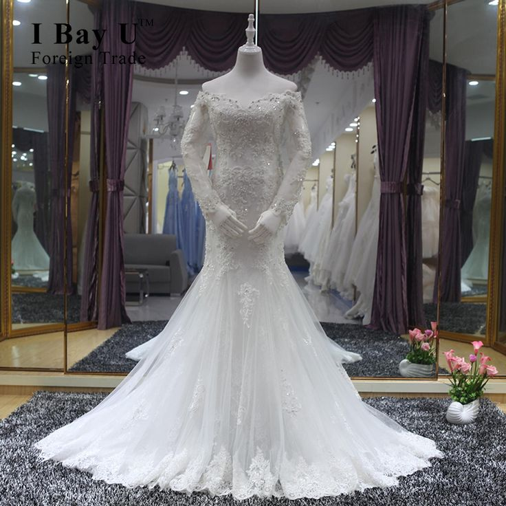 >> Click to Buy << I Bay U Real Photo Crystal Mermaid Wedding Dress With Full Crystal And Pearl Vestidos De Novia Baratos Robe De Mariage Princesse #Affiliate