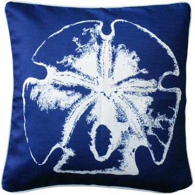 "Rosecliff Heights Woodcreek Head Sand Dollar Large Throw Pillow Size: 26"" H x 26"" W x 8"" D"
