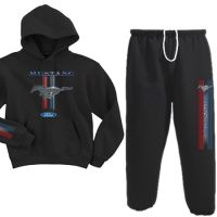 Show your Pony Pride in this super comfy Ford Mustang sweatsuit.  Hoodie & Sweatpants DeckedOutDuds.com