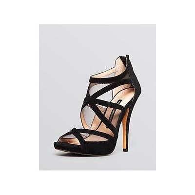 French Connection Open Toe Platform Evening Sandals - Delano High Heel #platformsandals #frenchconnection #women #covetme