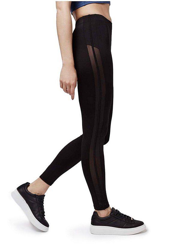 Topshop Mesh Stripe Leggings ($38)