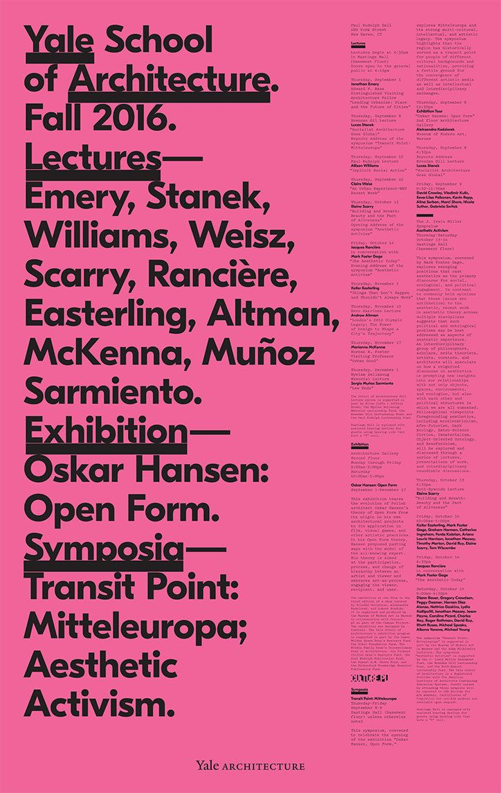 Design poster the best - Michael Bierut Rethinks The Yale School Of Architecture Poster Series After 18 Years