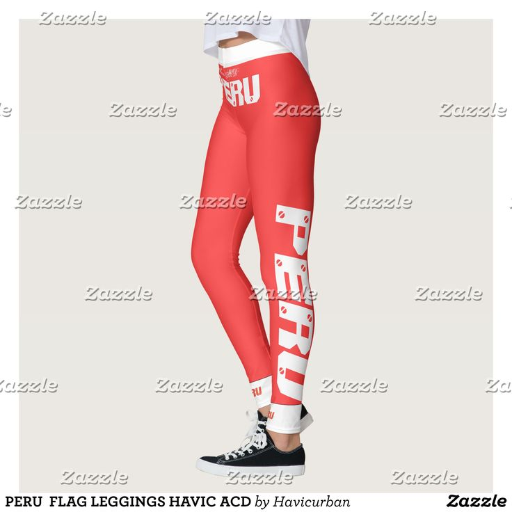 PERU  FLAG LEGGINGS HAVIC ACD : Beautiful #Yoga Pants - #Exercise Leggings and #Running Tights - Health and Training Inspiration - Clothing for #Fitspiration and #Fitspo - #Fitness and #Gym #Inspo - #Motivational #Workout Clothes - Style AND #comfort can both be possible in one perfect pair of custom #leggings. #PERU  FLAG LEGGINGS HAVIC ACD was crafted made with care each pair of leggings is printed before being sewn allowing for #fun and #creative designs on every square inch - Medium…