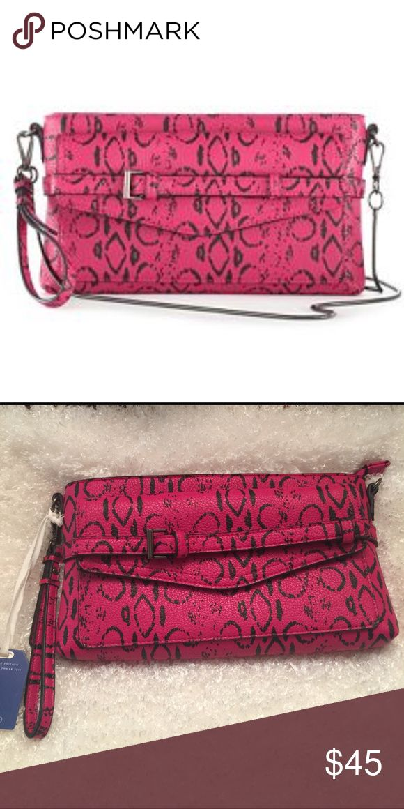 Fuchsia Viper Print Handbag Reed Krakoff for Kohls-CFDA Limited Edition      New w/Tags ~ Wristlet/Clutch Mini-Crossbody Handbag Pocketbook ~ Fuschia Pink Black Viper Snake Print Faux-Leather Features:Small-Sized Thin Metal Chain Soft Faux-Leather Iconic Style This Reed Krakoff for Kohls handbag has a luxurious look and feel at an affordable price. Reed Krakoff Bags Clutches & Wristlets