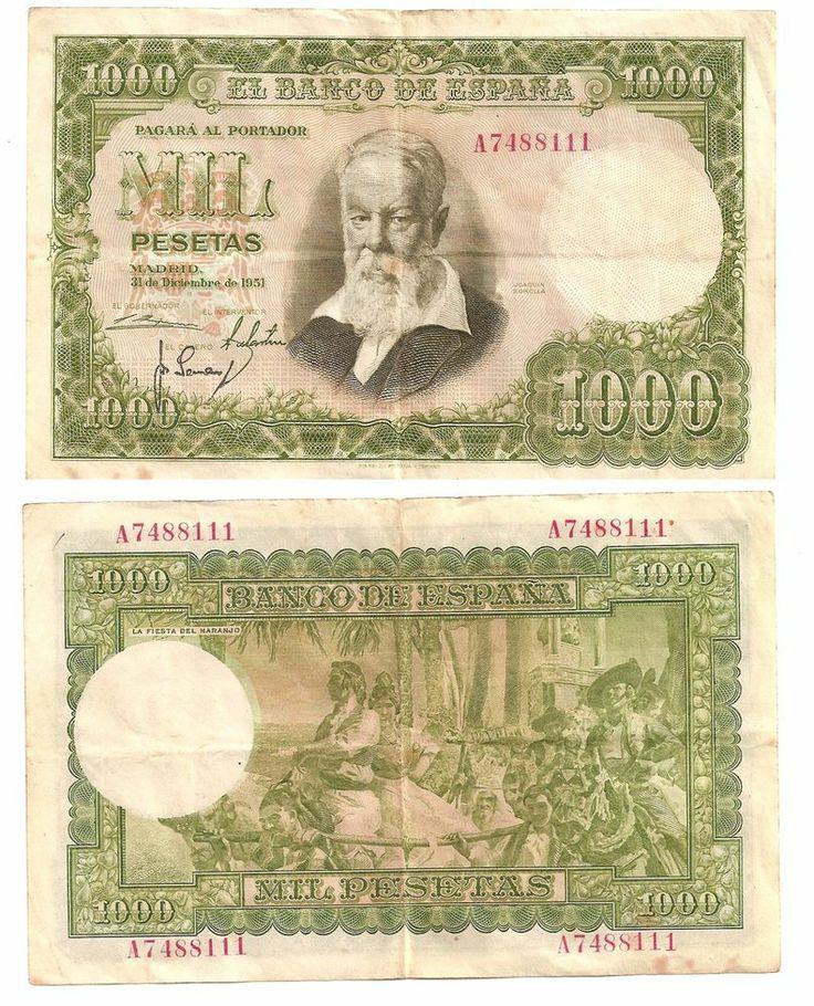 Billete 1000 pesetas año 1951