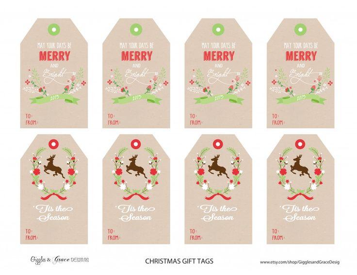 Christmas gift tag freebies for Christmas tags on pinterest