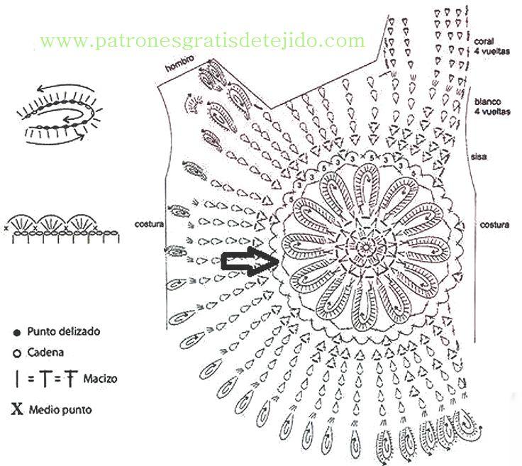 761 best Crochet. Patrones, diagramas y puntadas images on Pinterest ...
