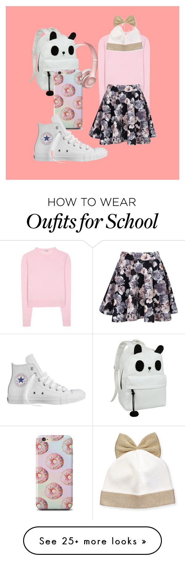 """""""Back to School"""" by emnixh on Polyvore featuring Miu Miu, Boohoo, Converse, Federica Moretti, women's clothing, women, female, woman, misses and juniors"""