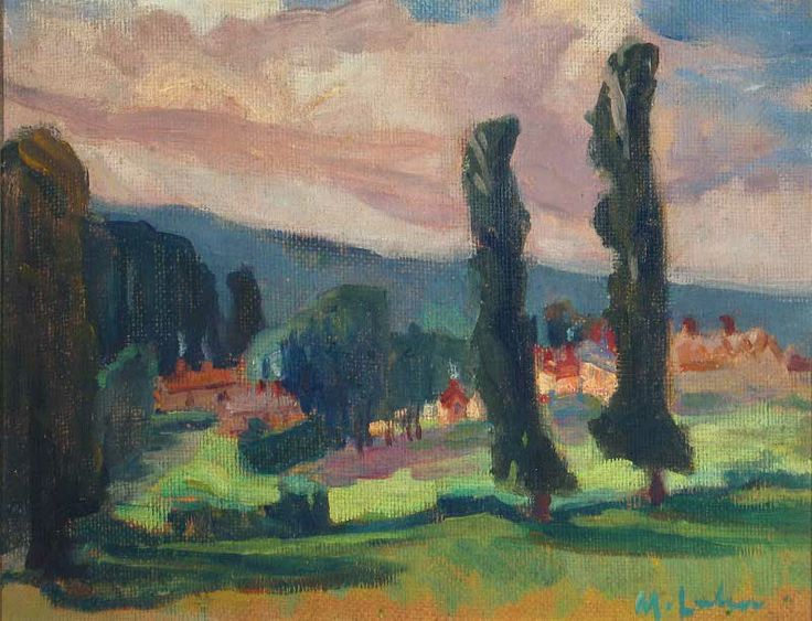 maggie laubser | Magdalena Maria (Maggie) Laubser, Landscape with Trees and Hills ...