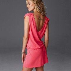 Letní dámské šaty s vykrojenými zády růžové + POŠTOVNÉ ZDARMAPošta Zdarma