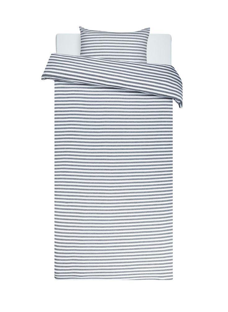 Tasaraita duvet cover set (white, grey) |Décor, Bedroom, Duvet covers | Marimekko