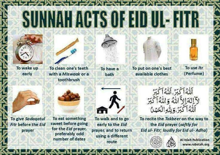 Sunnah acts of eid ul fitr #eidcollection #eidulfitri #eid #eidmubarak #eid2016 #ramadankareem