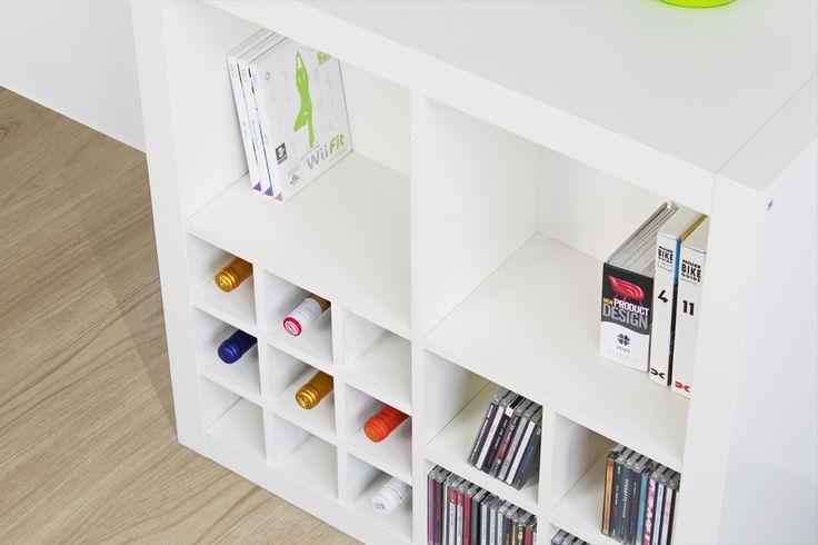 Bücherregal expedit  Rückwand in weiß für Expedit Regal von Ikea | EXPEDIT Regal Pimps ...