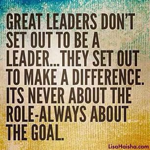 What are you setting out to be?? #leadership
