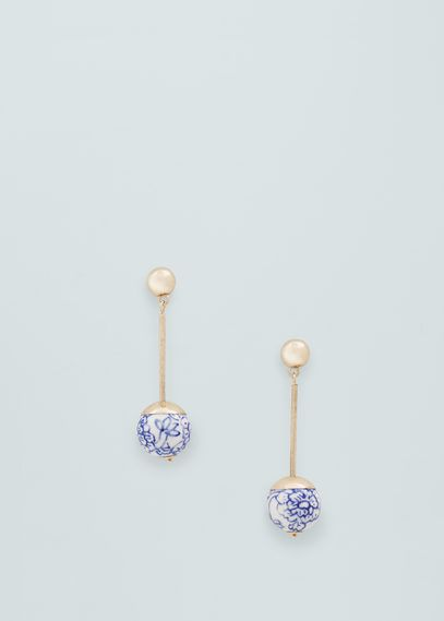 Ceramic floral earrings | MANGO