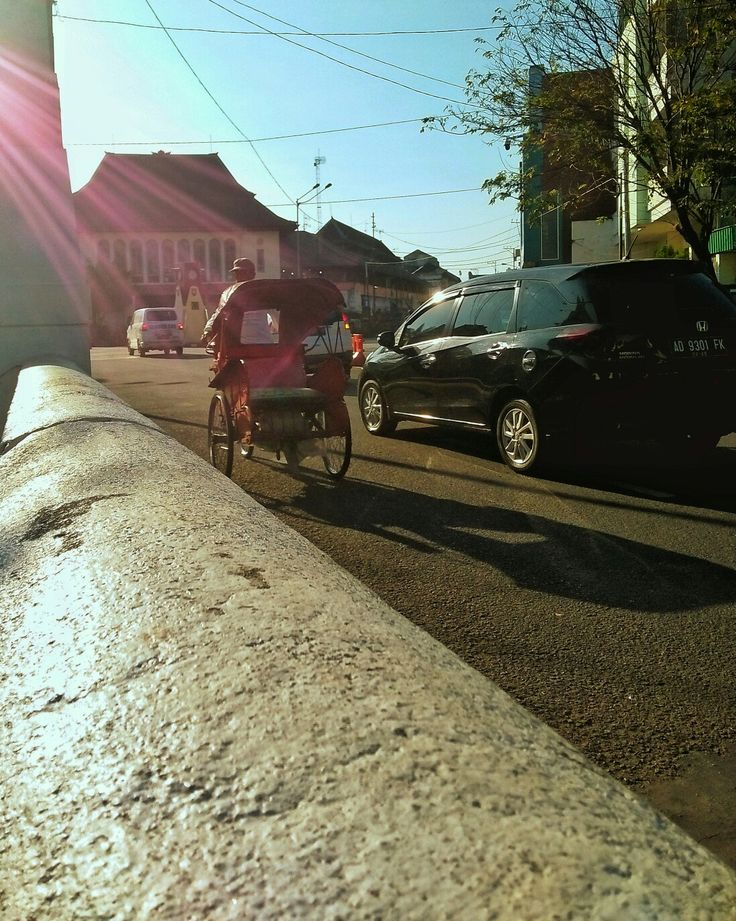 Becak pasar gede  Solo Indonesia