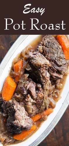 Best beef pot roast recipe! slow cooked on stove top or in oven with ...