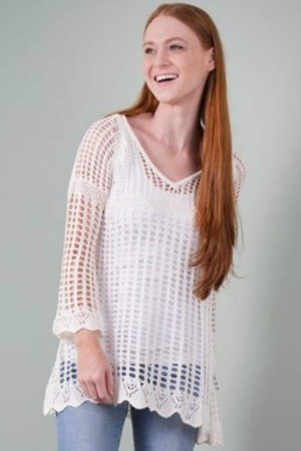 Womens Crochet Top Simply Be