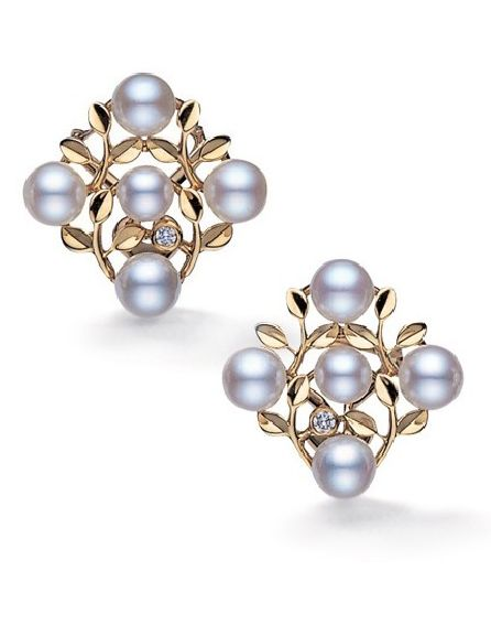 earrings mikimoto pearl with diamonds dia a gray