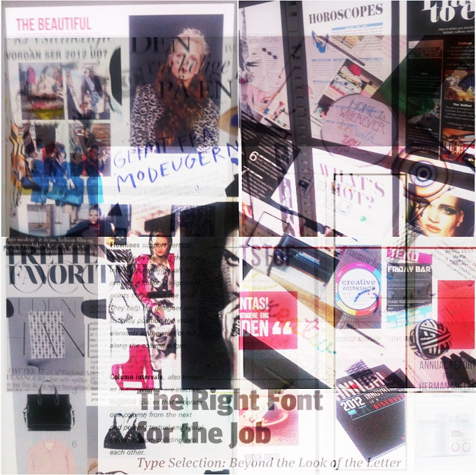Teaching magazine design  Collage of students moodboards and results.