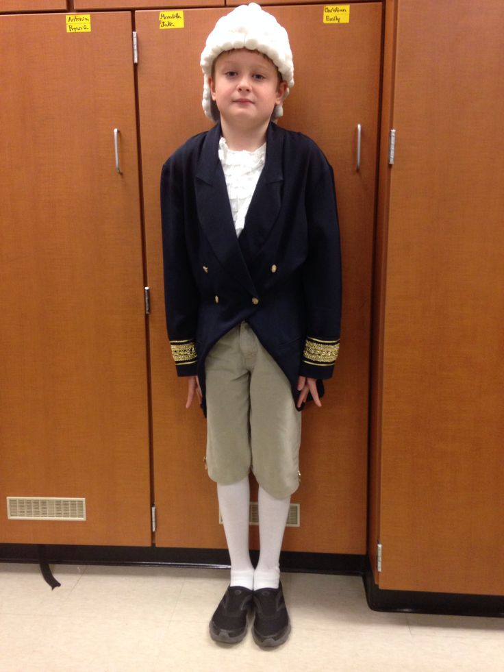 Homemade George Washington Costume Everything Created From Old