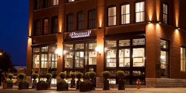A 67-room upscale boutique hotel in historic downtown La Crosse. The Charmant Hotel is a renovated candy factory, built in 1898.