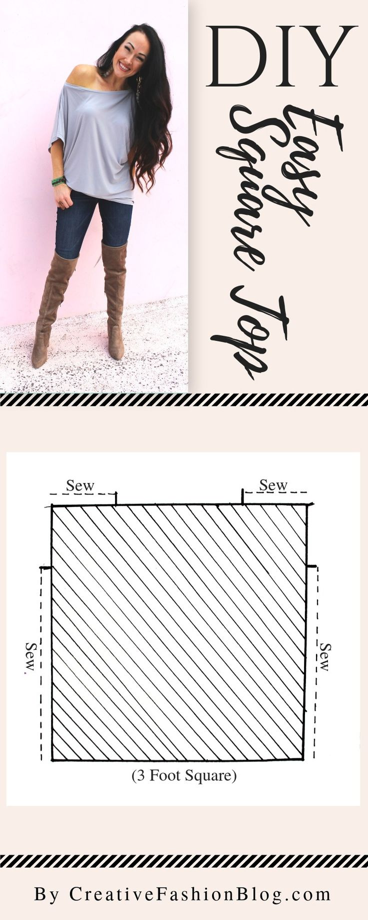 How to make a 3 step DIY draped square top printable pdf page 1. A great beginne…