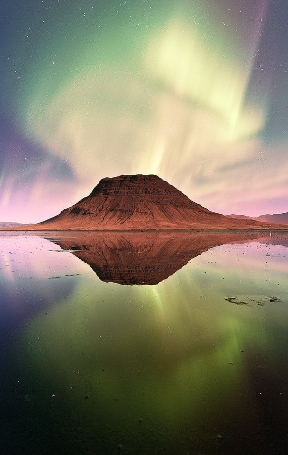 ~~Double explosion ~ aurora borealis reflection on mirror-like water, Icleand by Mauro La Malva~~