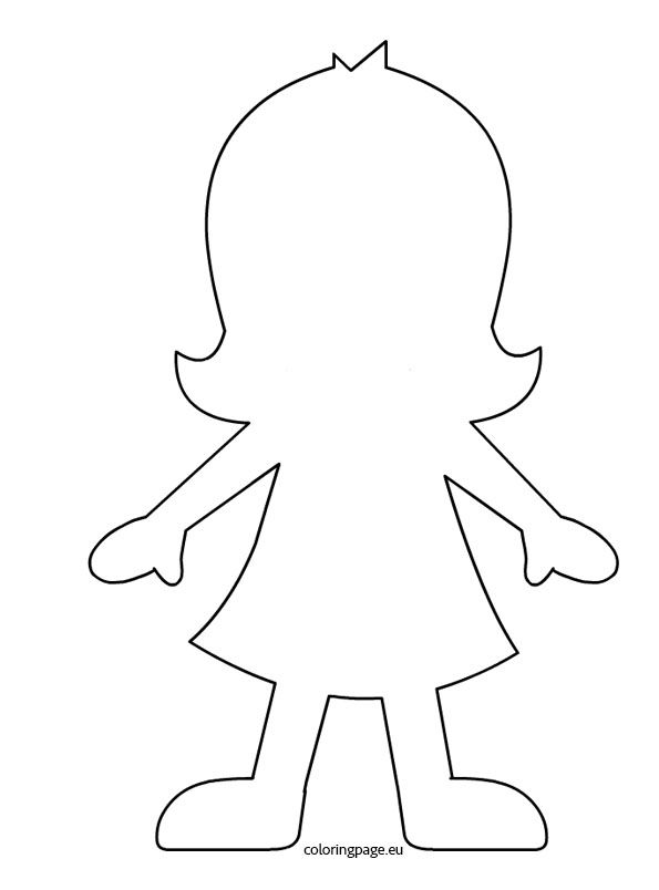 person template preschool - silhouette fille filles garcons pinterest human