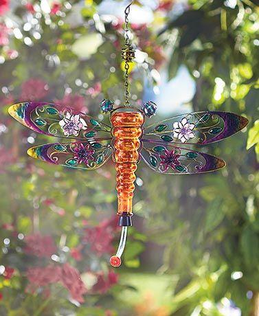 Metal and Glass Hummingbird Feeders