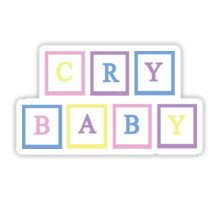 Crybaby letter blocks Sticker