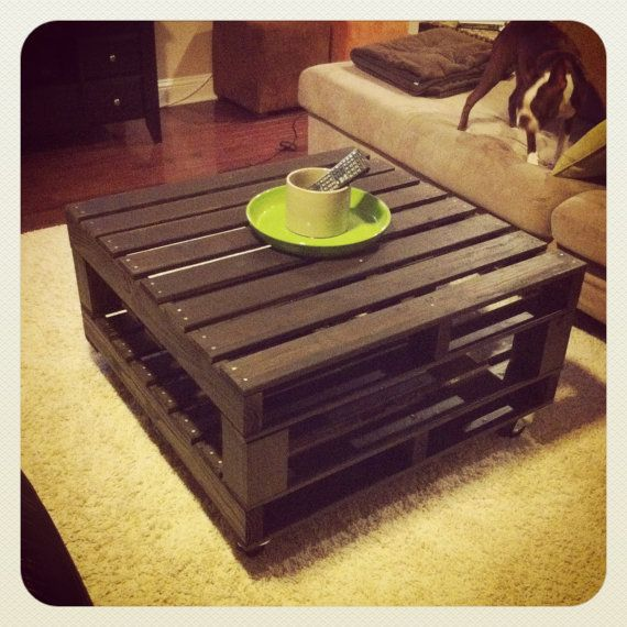 Wood Pallet Table Custom Made 36x36 by CBJDesign on Etsy, $195.00