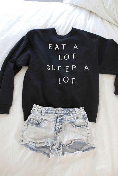 EAT A LOT SLEEP A LOT Jumper Sweater