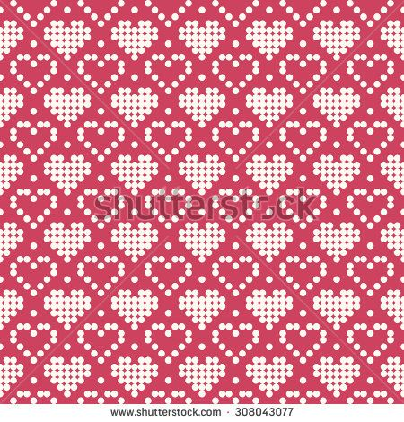 Ornamental Pattern For Knitting And Embroidery Heart Stock Photos, Images, &…