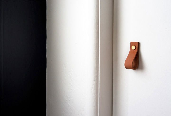 DIY Leather Cabinet Pulls