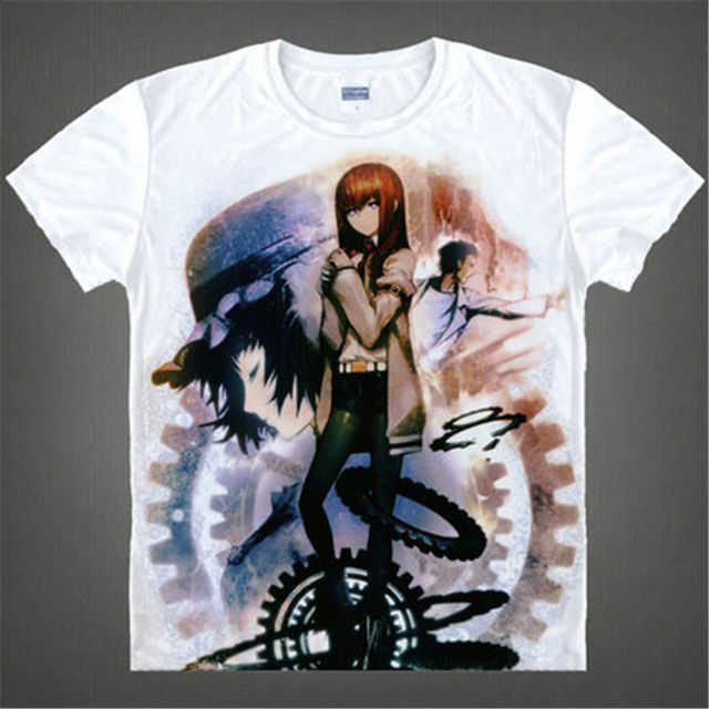 Special price Japan Anime Steins Gate T Shirt Men's Japanese Cartoon T-shirt Makise Kurisu Cosplay Costumes t shirts tops just only $10.01 with free shipping worldwide  #tshirtsformen Plese click on picture to see our special price for you