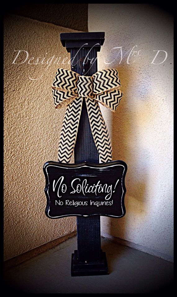 No Soliciting Sign by DesignedbyMrsD on Etsy