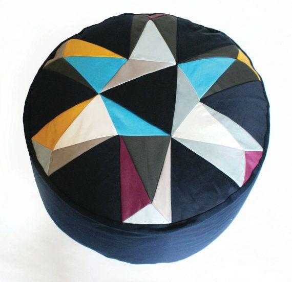 Kaleidoscope patchwork pouffe