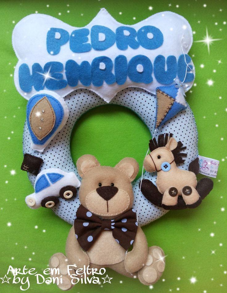 Produto decorativo, um carinho a mais para seu bebê! <br> <br>Guirlanda média. <br>Cores podem ser alteradas. <br> <br>Material: Feltro, tecido, enchimento.