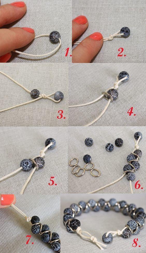 """Bracelet using jump rings as """"spacers"""""""