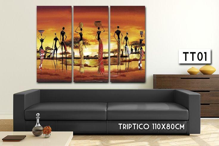 cuadro triptico grande moderno 110x80 living *envio gratis*