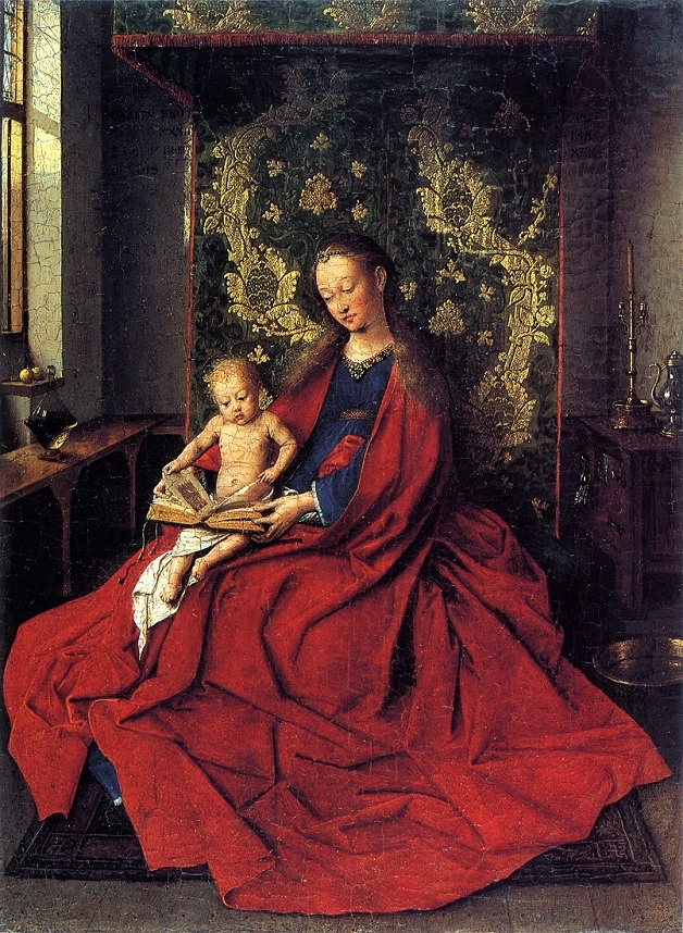 The Virgin and Child Reading by artist Jan van Eyck