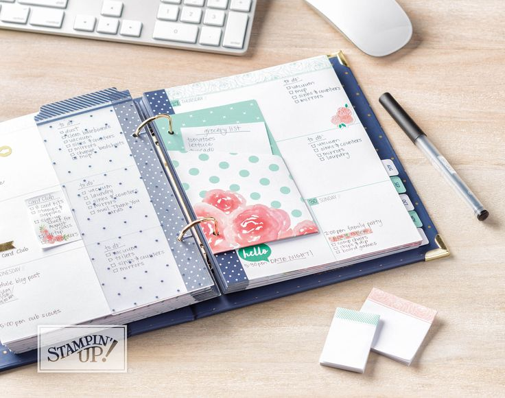 """It would be hard not to notice that """"planners"""" are the latest """"BIG"""" thing. Discover 16 Stampin' Up! products perfect to add pizzazz or """"Pimp your planner!"""""""