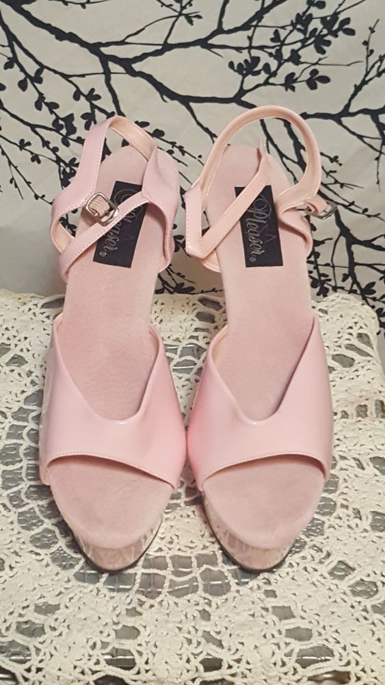 3b588d10acec Pleaser KISS-209 Platforms Exotic Dancing Baby Pink Patent Ankle Strap Heels  14  fashion