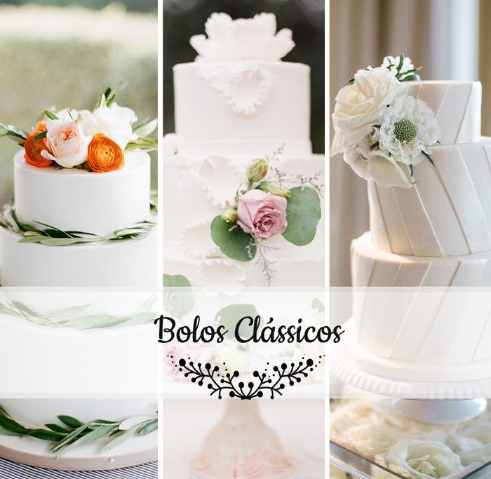 Bolos de casamento: Brancos e clássicos http://www.blogdocasamento.com.br/bolos-de-casamento-brancos-e-classicos/