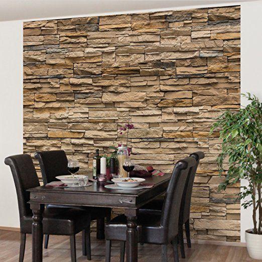 die besten 25+ steinoptik wand ideen auf pinterest | steinoptik ... - Stein Tapete Schwarz Wohnzimmer