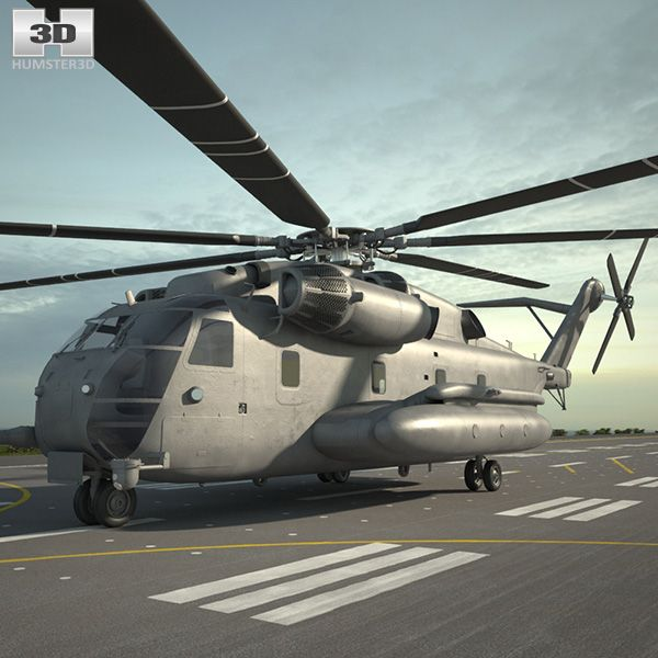 Sikorsky CH-53E Super Stallion 3d model from Humster3d.com
