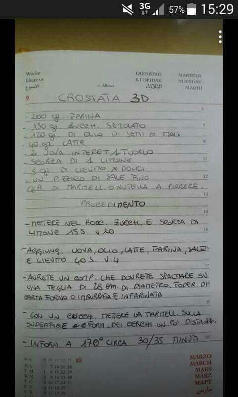 Crostata 3d