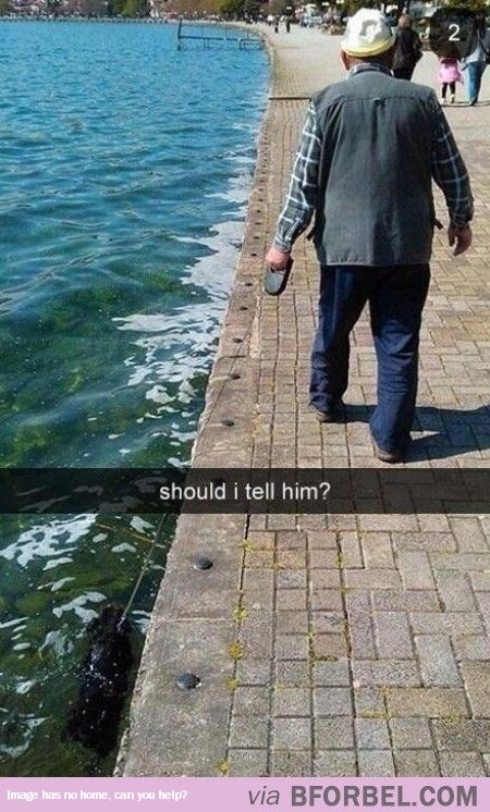 I Hope It Knows How To Swim…