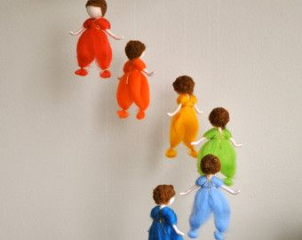 Boys Room Decoration Waldorf Inspired Needle Felted wall